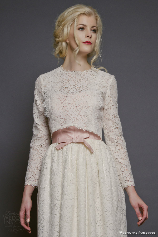 veronica sheaffer bridal fall 2014 daisy long sleeve lace blouse