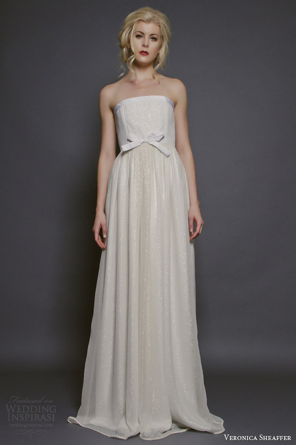 veronica sheaffer bridal fall 2014 deansie strapless wedding dress