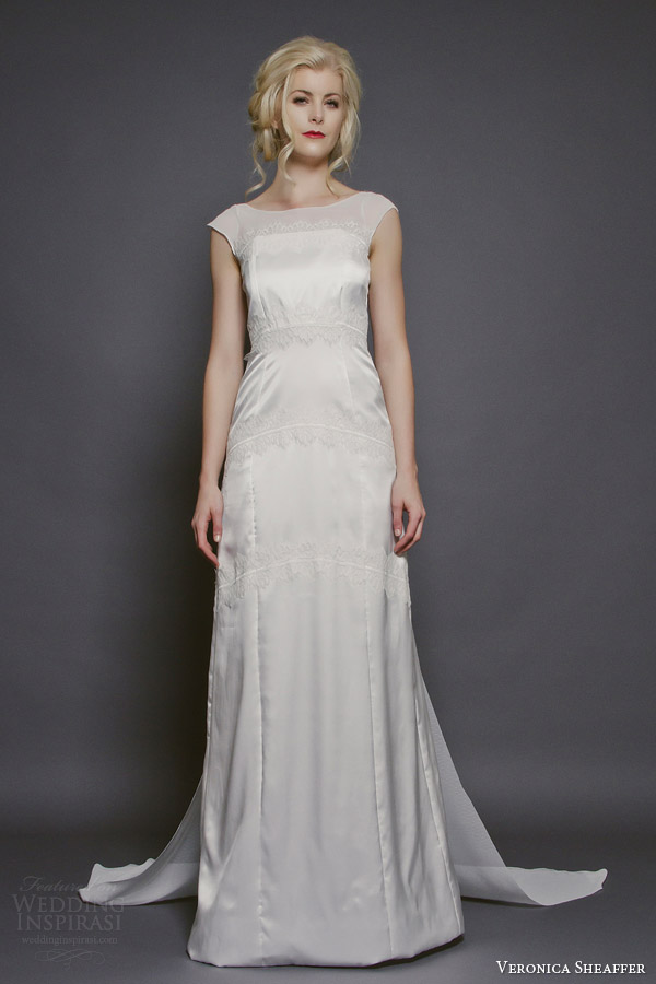 veronica sheaffer bridal fall 2014 orchid wedding dress cap sleeves