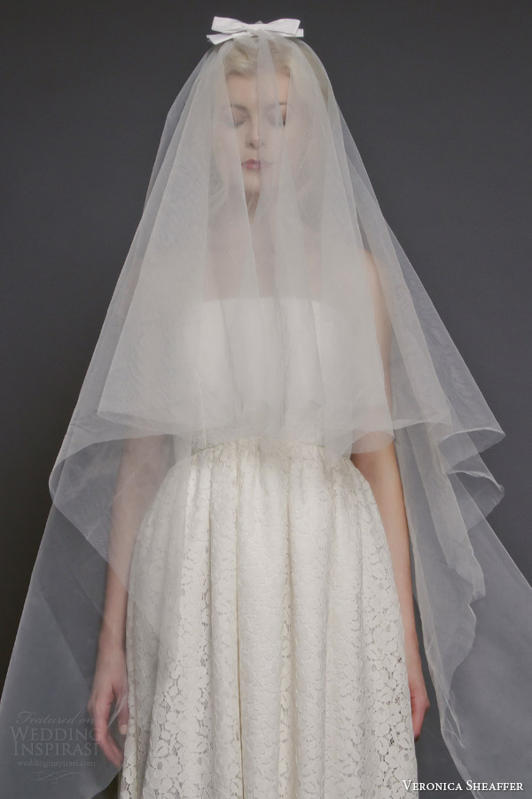 veronica sheaffer bridal fall 2014 perfect bow veil