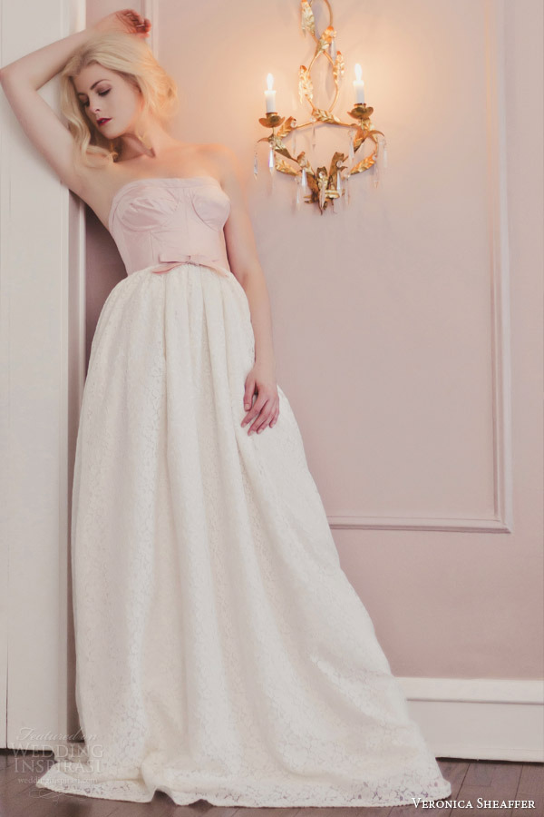 veronica sheaffer fall 2014 peony strapless wedding dress lookbook