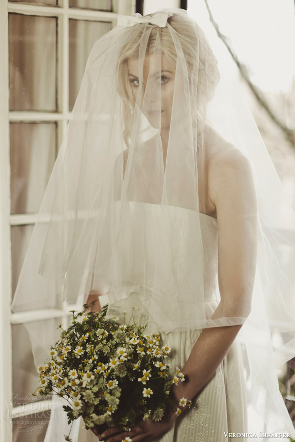 veronica sheaffer fall 2014 perfect bow veil with deansie gown lookbook
