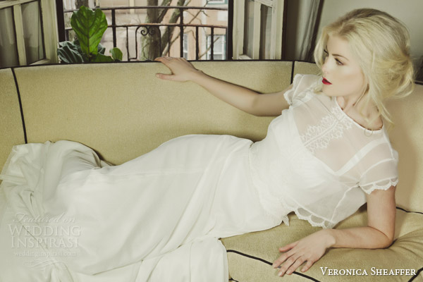 veronica sheaffer fall 2014 wisteria wedding dress daffodil top lookbook