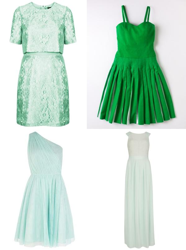 Green Highstreet Bridesmaid Dresses