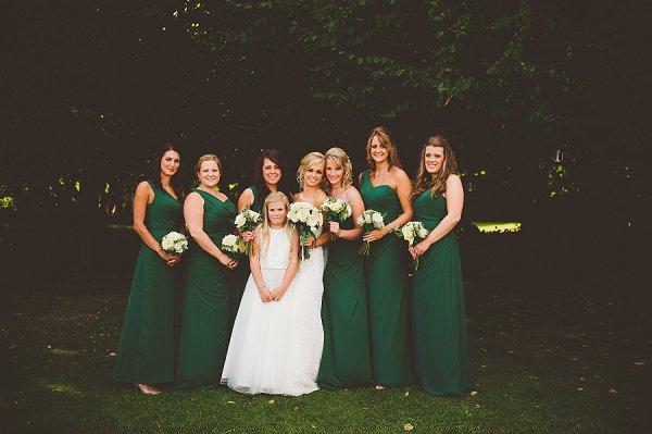 Green Bridesmaid Dresses http://www.kerrydiamondphotography.com/