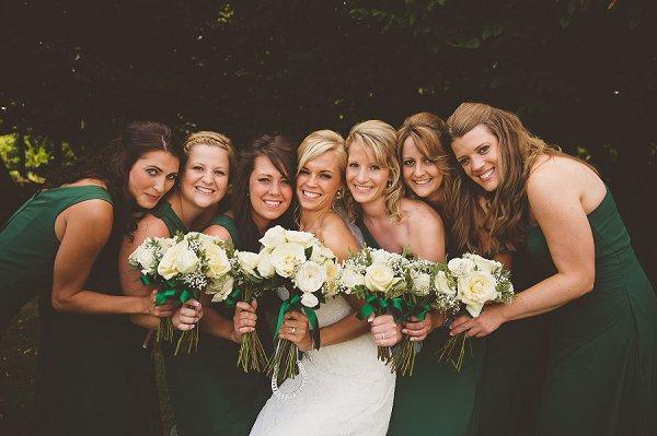 Green Bridesmaids http://www.kerrydiamondphotography.com/