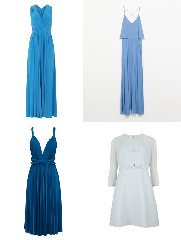 High Street Blue Bridesmaid Dresses 2014