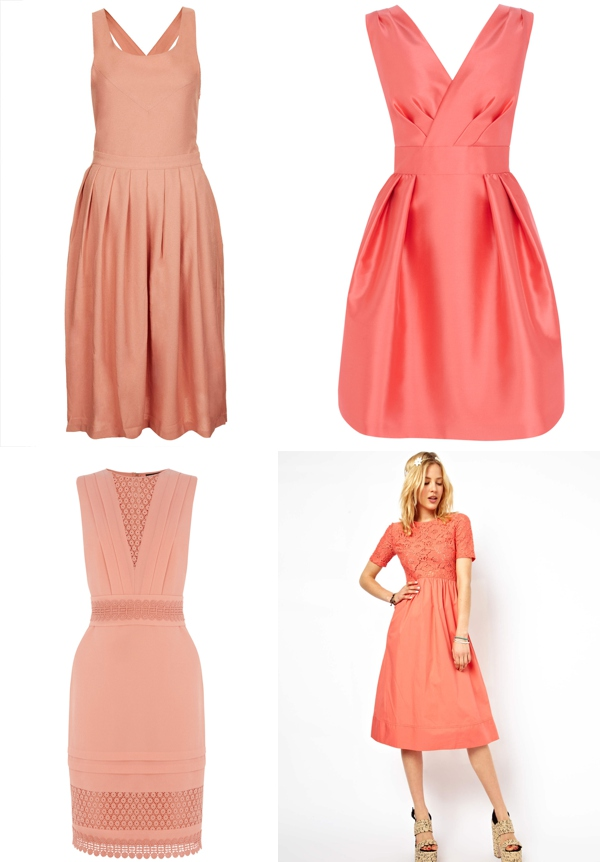 Orange Peach Bridesmaids Highstreet