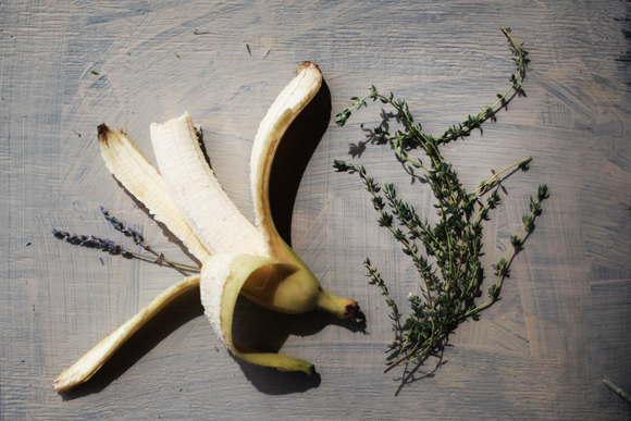 Banana and herbs