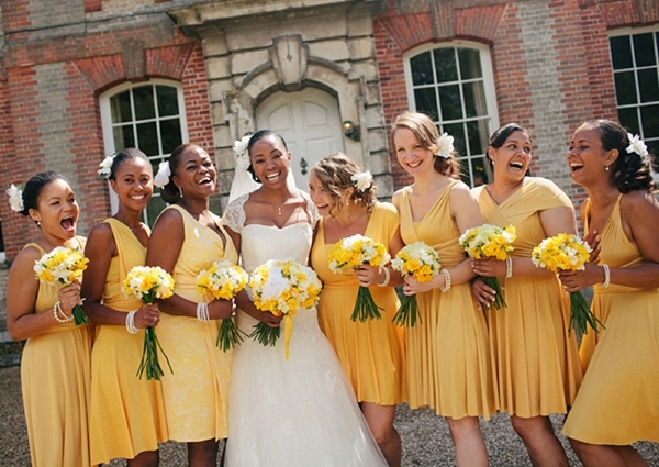 Yellow Bridesmaids http://www.mikiphotography.info/