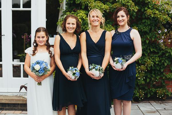 Dark Blue Bridesmaids http://www.redonblonde.com/