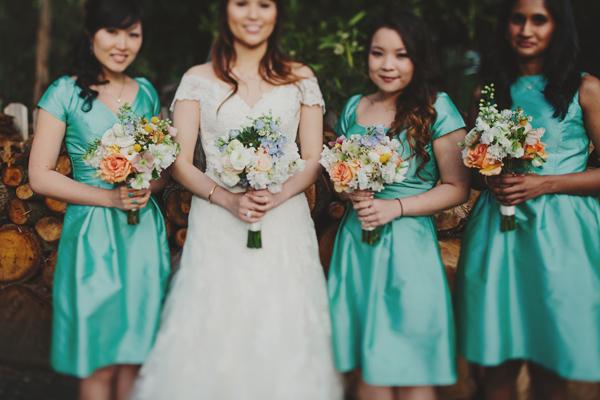 Turquoise Bridesmaids http://www.jonathanong.com/