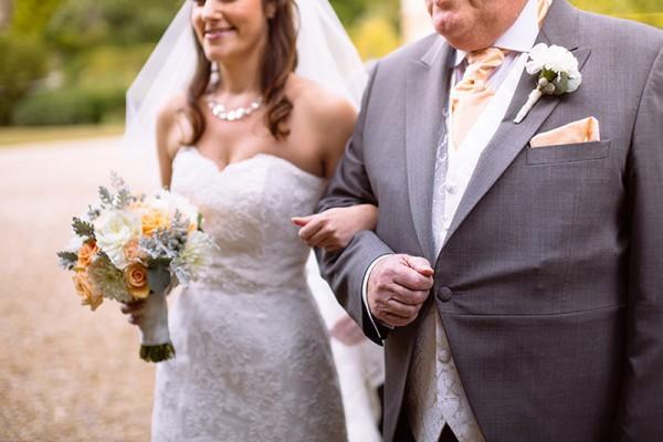 Classic Country House Wedding Peach Boquet http://joseph-hall.com/