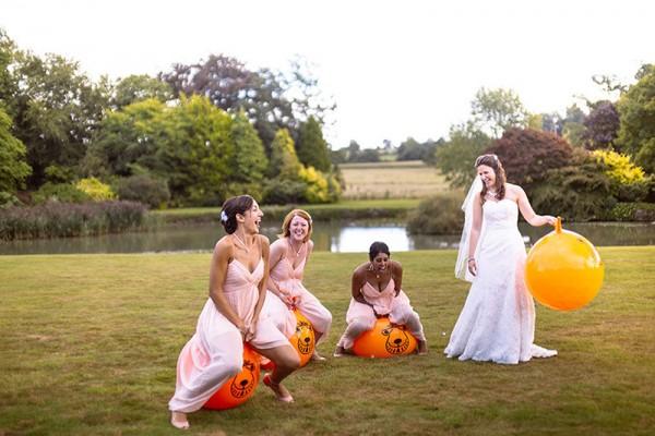 Classic Country House Wedding Bridesmaids Peach Dresses http://joseph-hall.com/