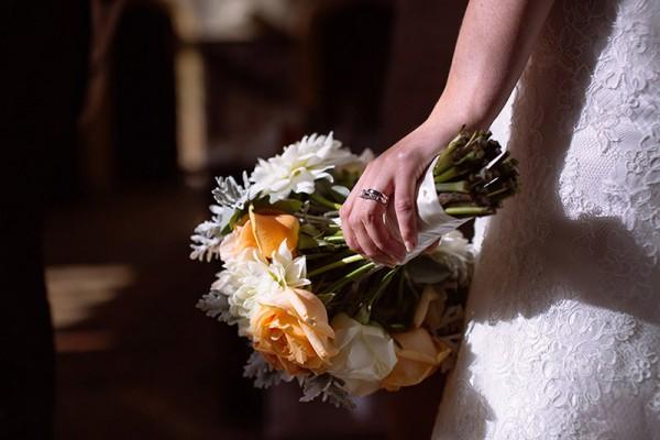 Classic Country House Wedding Peach Rose Bouquet http://joseph-hall.com/