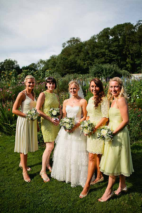 Yellow Bridesmaids http://www.kristyfield.co.uk/