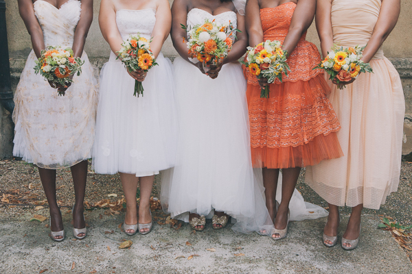 Coral Orange Bridesmaids http://cargocollective.com/blushandwhimsy