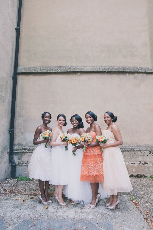 Orange Coral Bridesmaids http://cargocollective.com/blushandwhimsy
