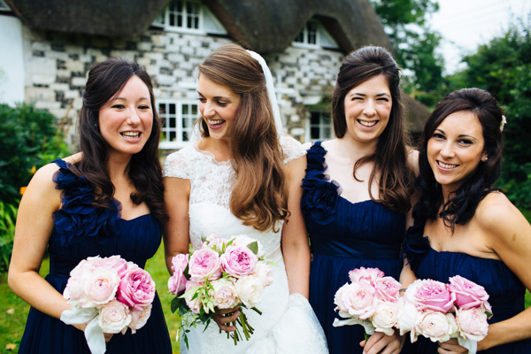 Navy Blue Bridesmaids Wedding http://www.richardskinsphotography.co.uk/