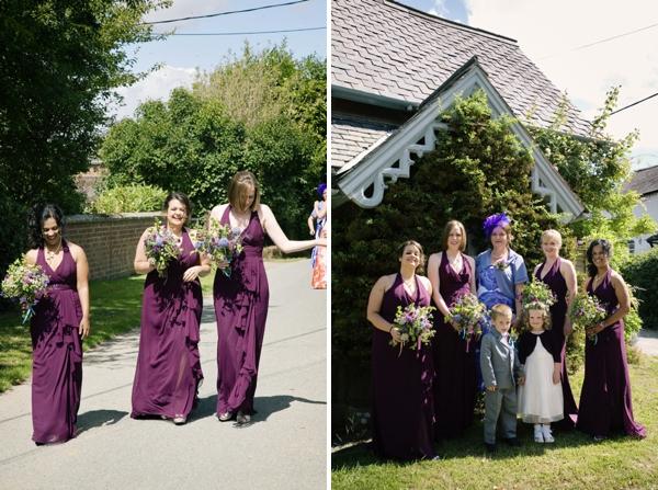 Purple Bridesmaids http://www.jobradbury.co.uk/