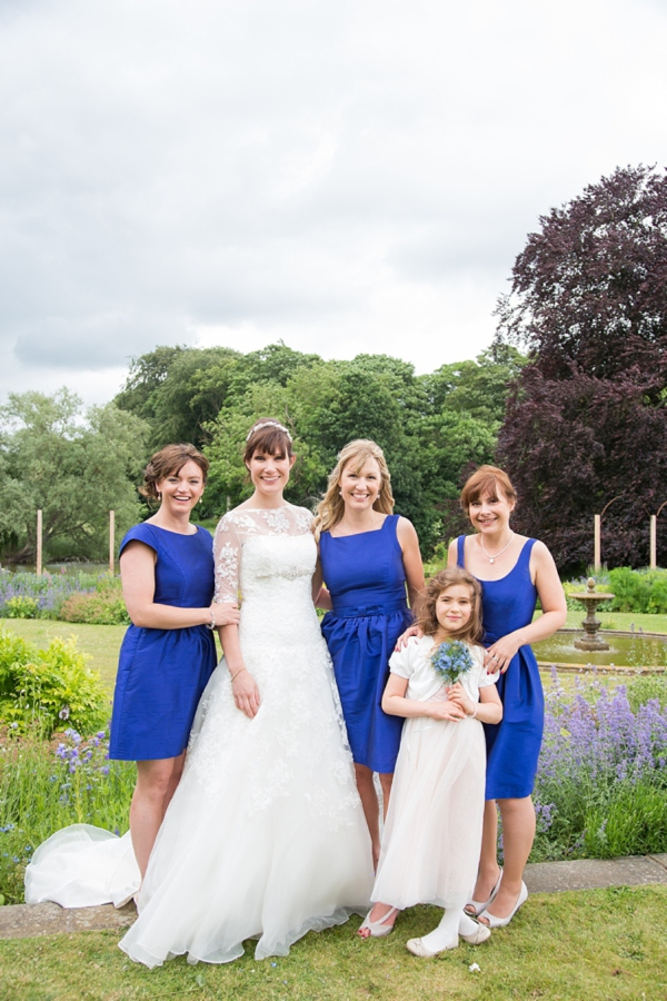 Bright Blue Bridesmaids http://www.katherineashdown.co.uk/