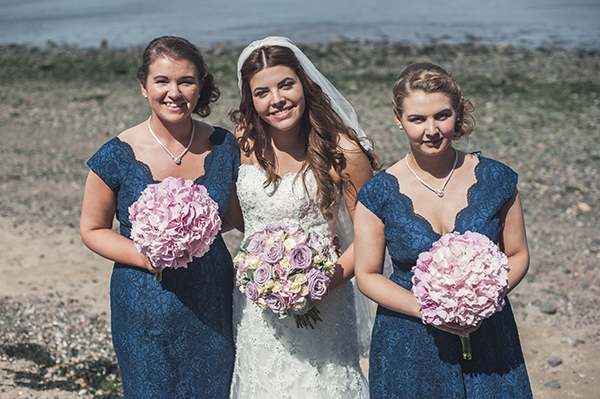 Lace Blue Dress Bridesmaids http://greenweddingphotography.co.uk/