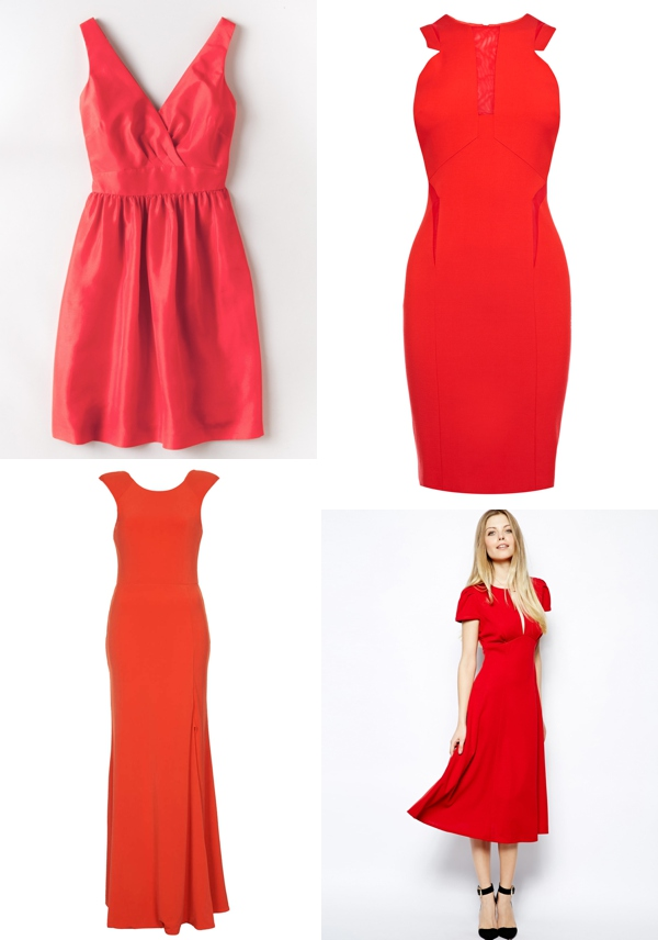 Red Highstreet Bridesmaid Dresses