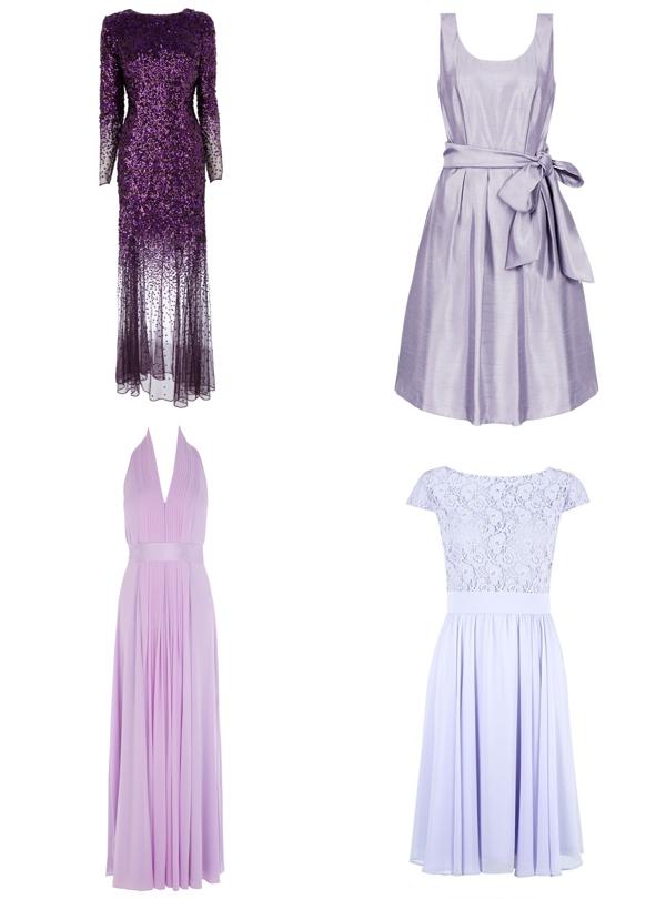 High Street Purple Bridesmaid Dresses 2014