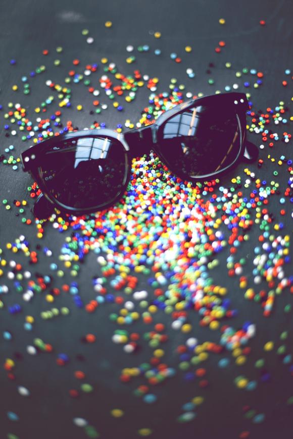 sunglasses and beads