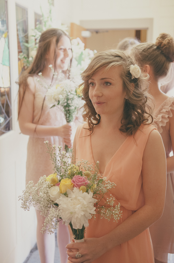 Peach Bridesmaids http://www.tohave-toholdphotography.co.uk/