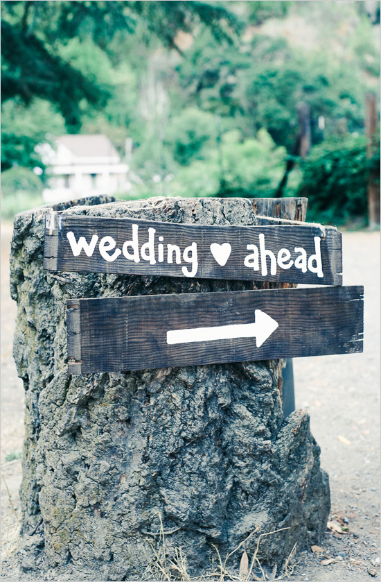wedding ahead sign
