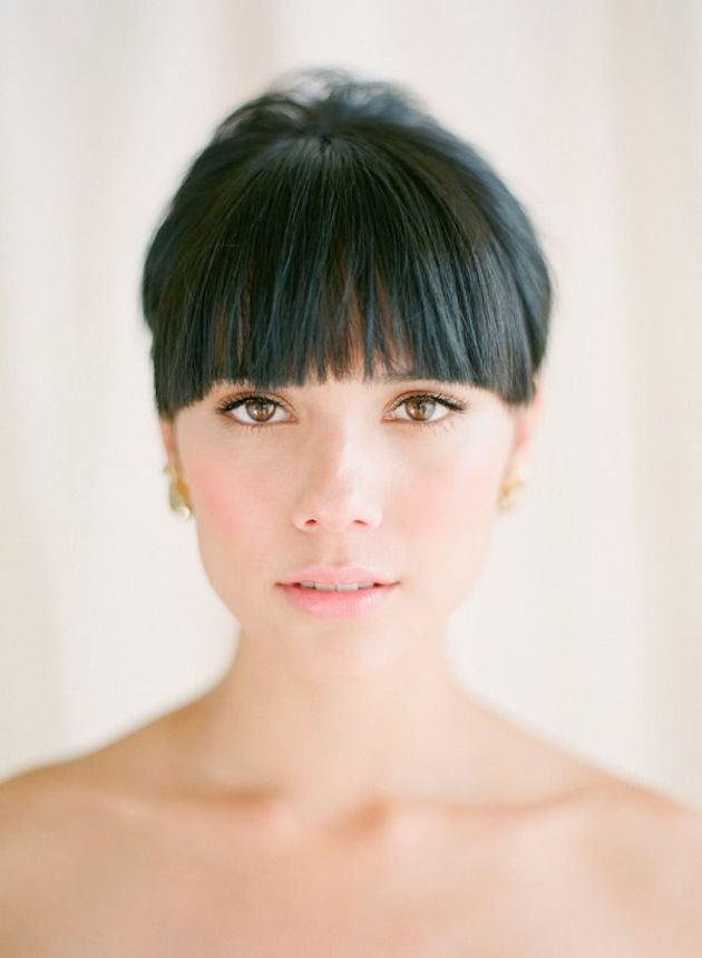 Brides With Bangs | Brides with Fringes | Wedding Hair Inspiration | Bridal Musings 1
