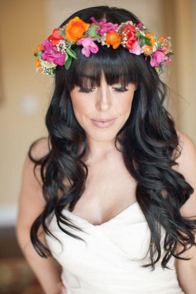 Brides With Bangs Wedding Hair Inspiration Wonderslands