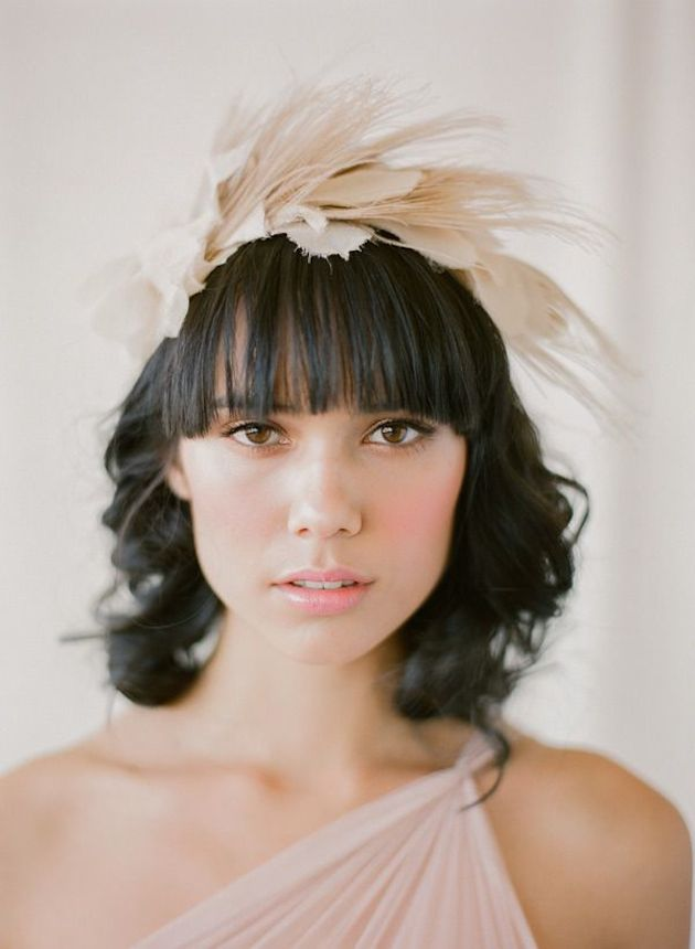 Brides With Bangs | Brides with Fringes | Wedding Hair Inspiration | Bridal Musings 8