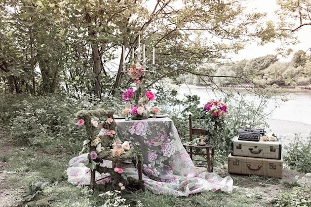 Flower-Filled Woodland Wedding Inspiration | Cristina Rossi Photography | Bridal Musings Wedding Blog 1