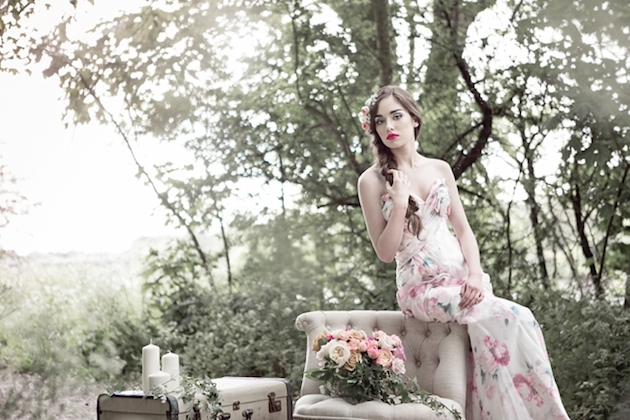 Flower-Filled Woodland Wedding Inspiration | Cristina Rossi Photography | Bridal Musings Wedding Blog 10