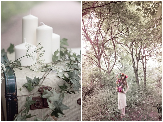 Flower-Filled Woodland Wedding Inspiration | Cristina Rossi Photography | Bridal Musings Wedding Blog 15