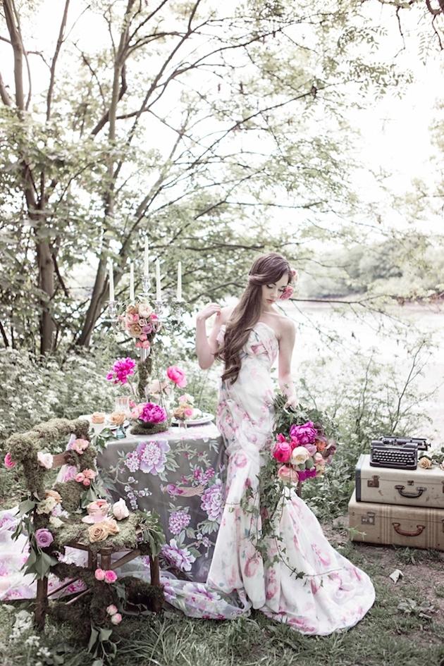 Flower-Filled Woodland Wedding Inspiration | Cristina Rossi Photography | Bridal Musings Wedding Blog 20
