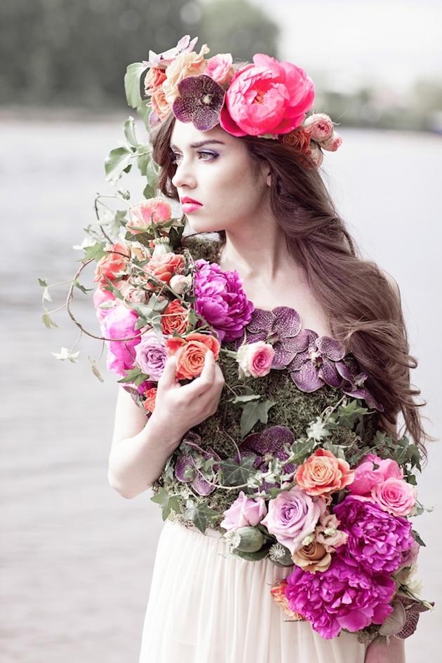 Flower-Filled Woodland Wedding Inspiration | Cristina Rossi Photography | Bridal Musings Wedding Blog 26