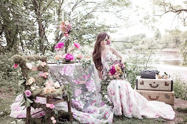 Flower-Filled Woodland Wedding Inspiration | Cristina Rossi Photography | Bridal Musings Wedding Blog 5