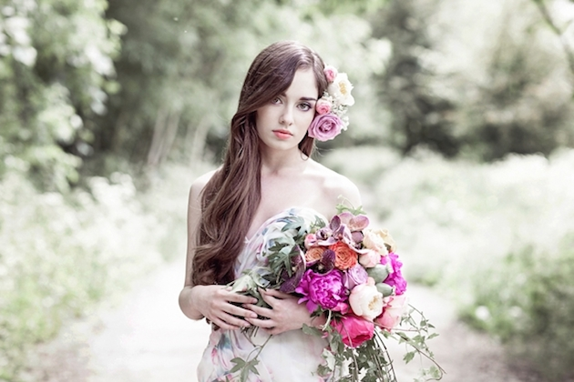 Flower-Filled Woodland Wedding Inspiration | Cristina Rossi Photography | Bridal Musings Wedding Blog 9