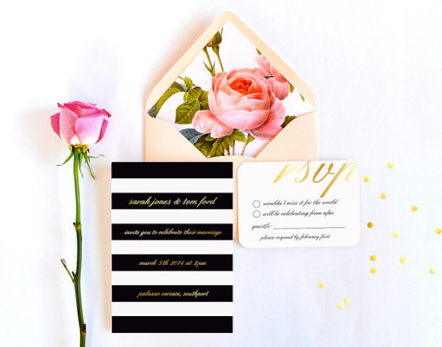 13 Unique Envelope Inserts | Wedding Stationery | Bridal Musings Wedding Blog 6