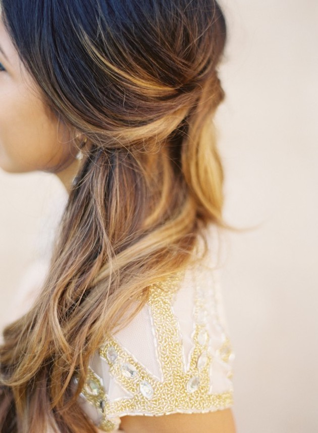 15 Gorgeous Half-Up Half-Down Hairstyles for Your Wedding | Bridal Musings Wedding Blog 14