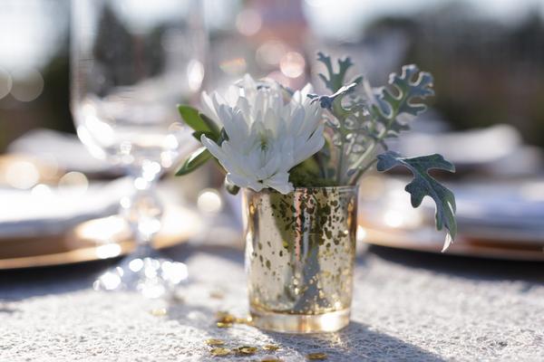 Mint Green + Gold Wedding Decoration