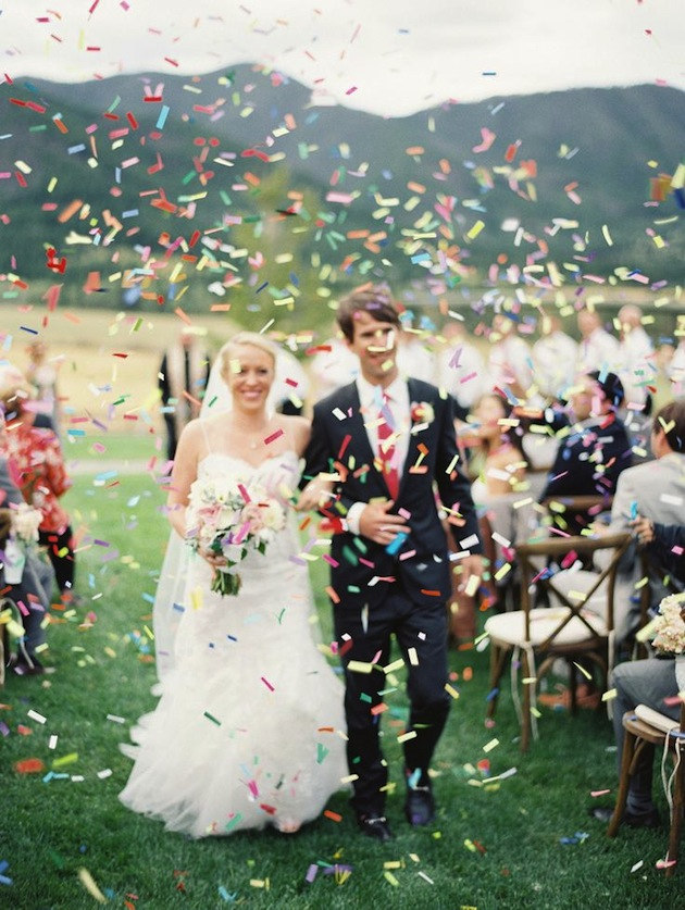The top 10 fun & fabulous wedding confetti ideas! - Confetti Recessional