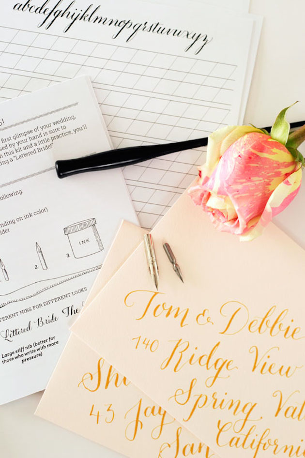 Top 10 Tips On Diy Calligraphy For Your Wedding Wonderslands