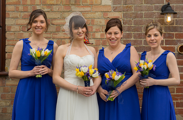 Blue Yellow Spring Wedding Blue Bridesmaid Dresses http://www.fullerphotographyweddings.co.uk/