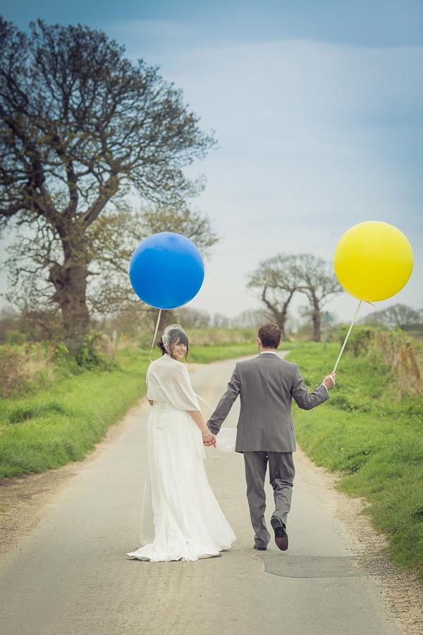 Blue Yellow Spring Wedding Balloons http://www.fullerphotographyweddings.co.uk/