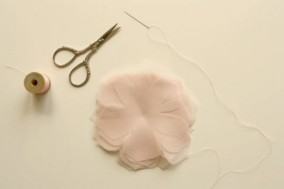 Handmade Fabric Flowers Tulle