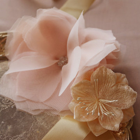 Handmade Fabric Tulle Flower